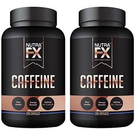Caffeine Pills 200Mg Maximum Potency Benefits Strength  Energy   Focus 100 Capsules All Natural Caffeine With No Crash By Nutrafx