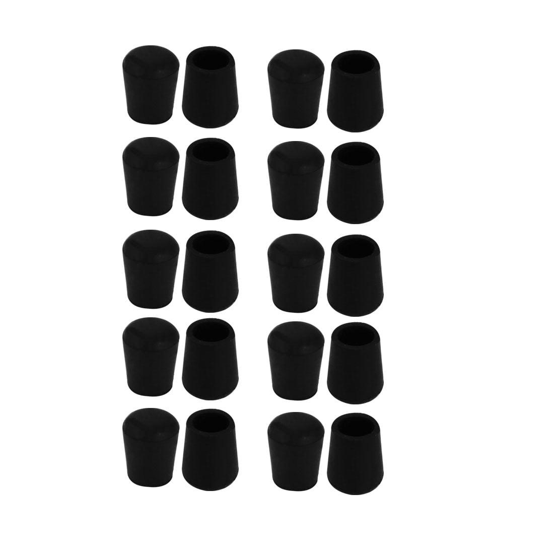20pcs Chair Leg Caps Rubber Floor Protector Furniture Feet Covers 10mm Inner Dia