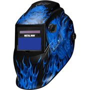 Metal Man Variable Shade 9-13 Plus Grind Auto Darkening Welding Helmet Real Flame ASF8650SGC