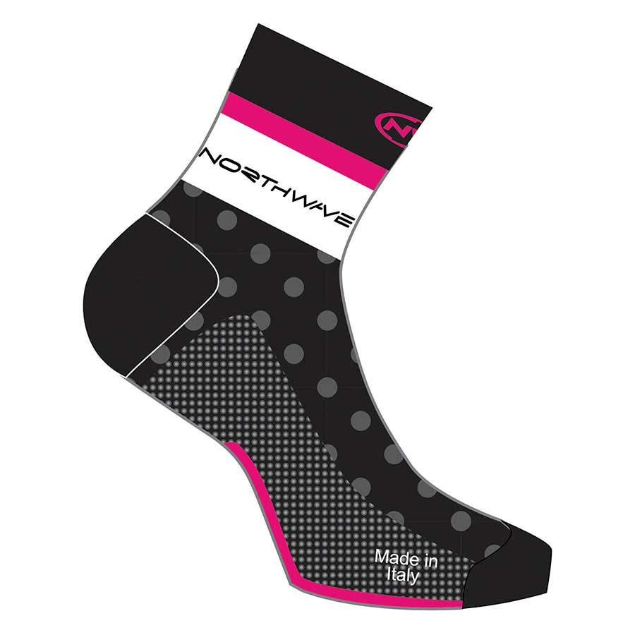 Northwave, Logo, Socks, Black/Fuchsia, M