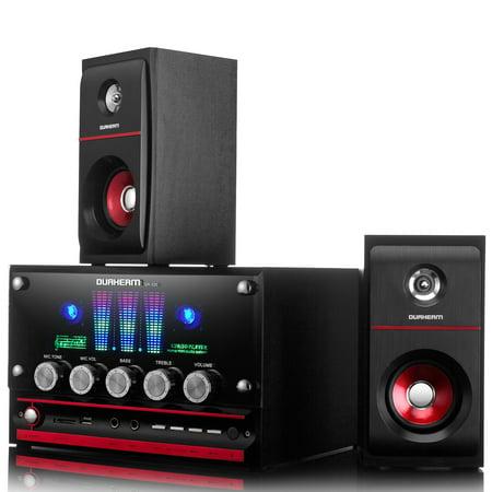 Durherm DR-S30 2.1 CH Desktop Home Audio Subwoofer Speaker Media System w/ Remote Control ()