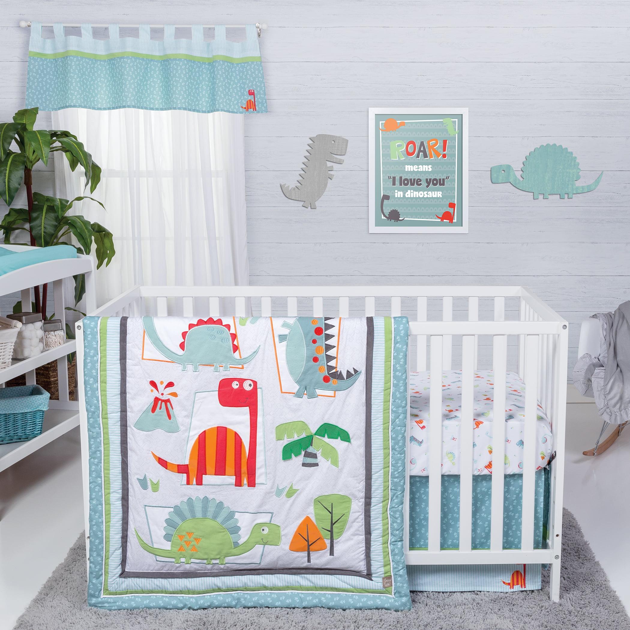 Trend Lab Dinosaur Roar 3 Piece Crib Bedding Set Walmart Com