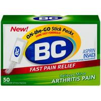 2 Pack - Bc Arthritis Formula Pain Reliever Powders 50 ea