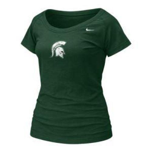 Michigan State Spartans Women's Nike College Ss Slub Top