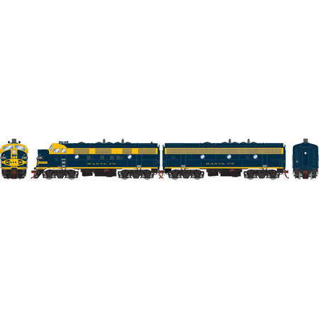 Athearn G22694 HO Santa Fe/Freight F7A/F7B with DCC & Sou...