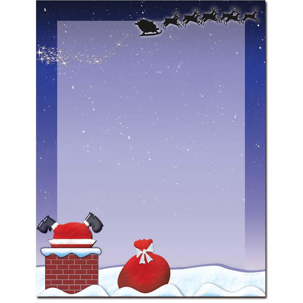 Santa On The Rooftop Letterhead Laser & Inkjet Printer Paper