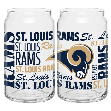 Boelter Brands NFL Set of Two 16 Ounce Spirit Glass Can Set, St. Louis (Louis Rams Computer)