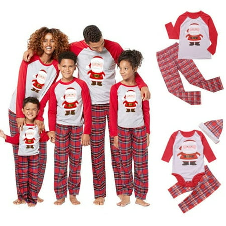 Xmas Family Matching Christmas Pajamas Set Women´s Mens Kids Sleepwear Nightwear