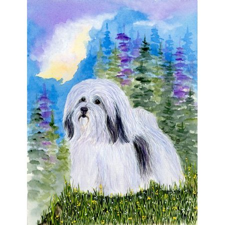 Caroline's Treasures Havanese House Vertical Flag