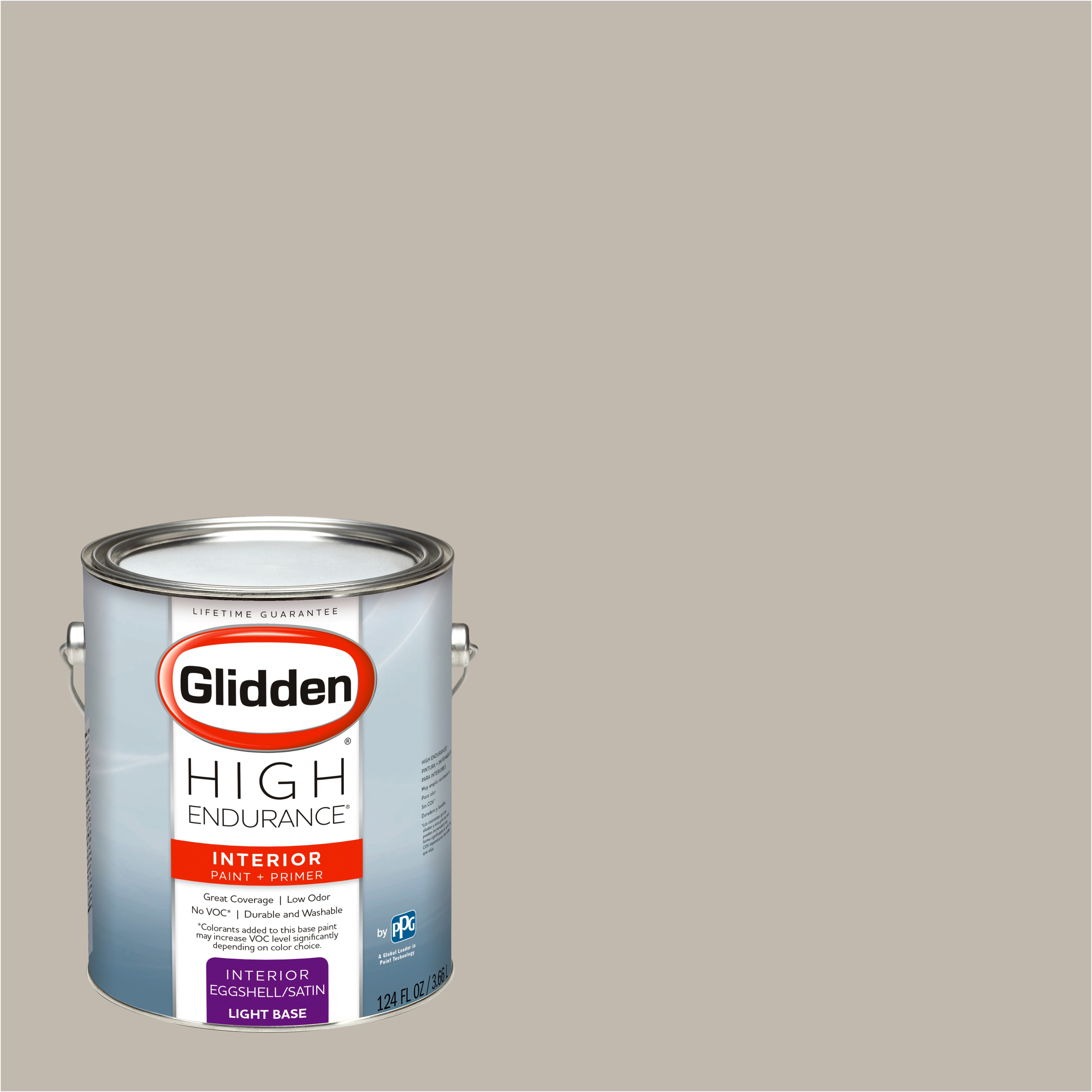 Glidden High Endurance, Interior Paint and Primer, Silver Clamshell, #30YY 49/071