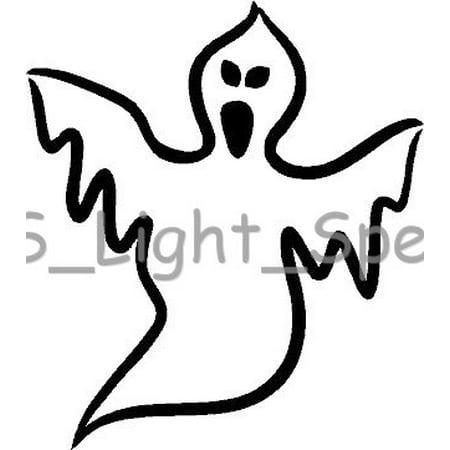 (2) Spooky Ghost Creepy Hallows Halloween Vinyl Decal Car Window Stickers BLACK (Halloween 2 Vinyl)