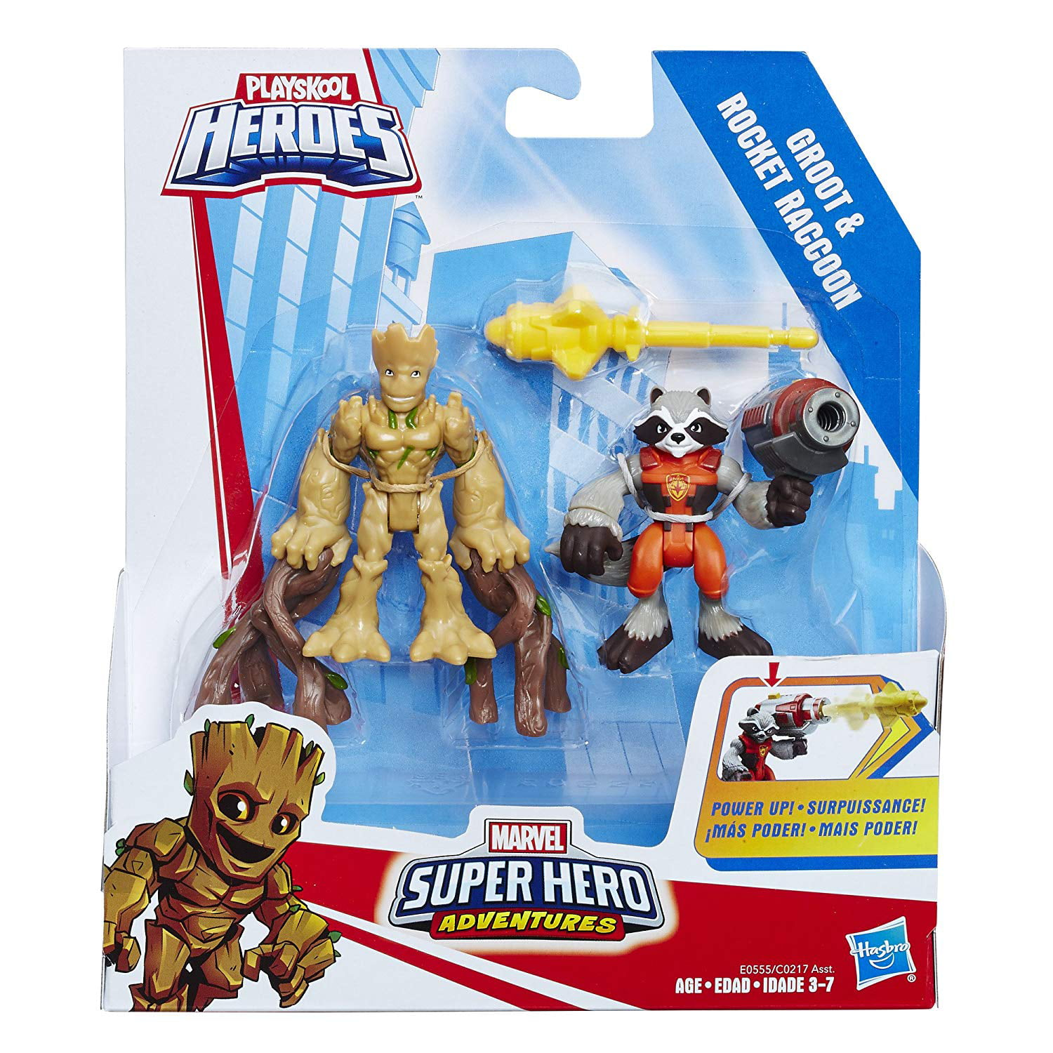 Playskool Heroes Guardian Of The Galaxy GROOT Marvel Super Hero Adventures