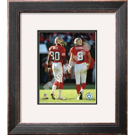 Steve Young and Jerry Rice Framed Photographic Print Wall Art  - (Steve Young Jerry Rice)