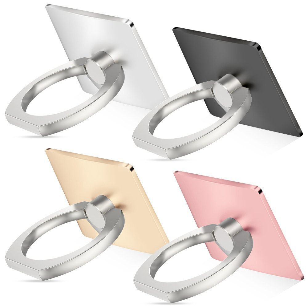 4Packs Universal Smartphone Ring Grip Stand Holder Car Mounts Cradle for Cellphone Tablet