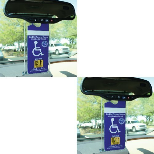 Handicap Permit Placard Protective Holder Set of 2