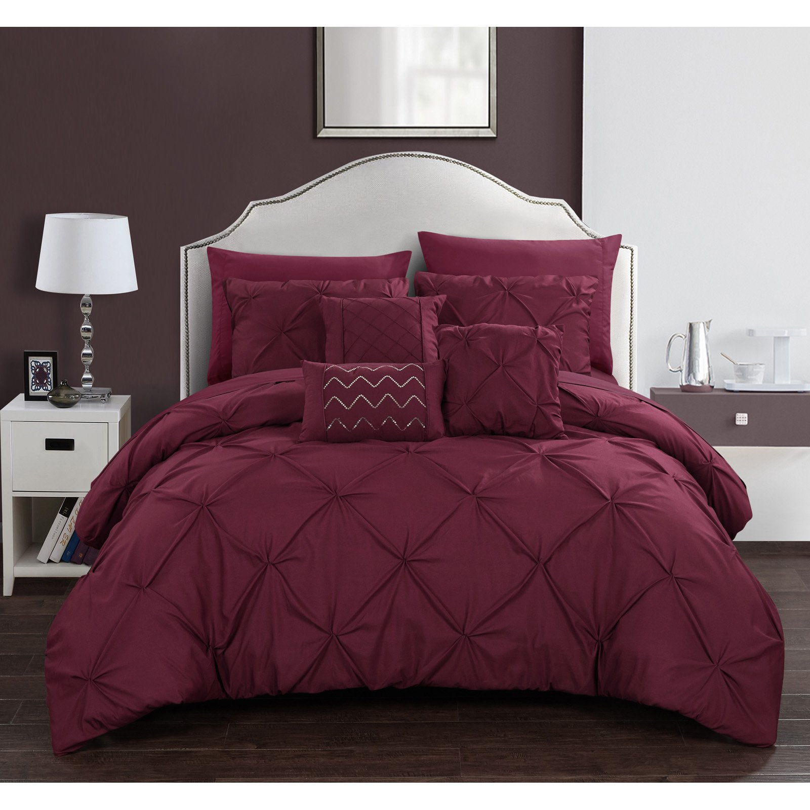 Chic Home Valentina 10 Piece Bed in a Bag Comforter Set