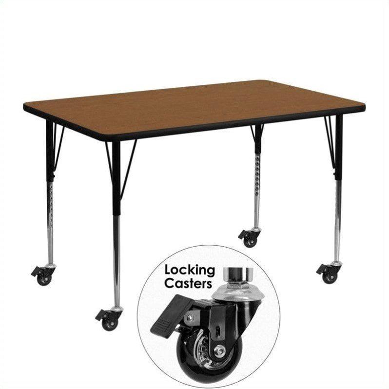 "Flash Furniture 31"" x 36"" x 72"" Rectangular High Pressure Top Mobile Activity Table in Oak - image 5 de 5"