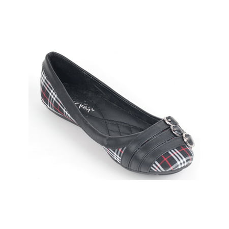 Women Ballerina Ballet Flats, Work & Casual Slip Ons Shoes w/ Three Belt Buckle 3' Firepower Slip Ons
