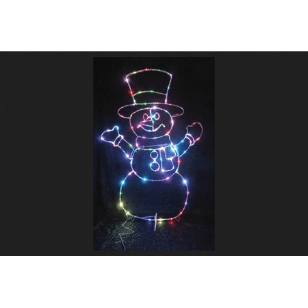 Celebrations LED Micro Dot Snowman Christmas Decoration Multicolored Iron 48 in. - Snowman Led