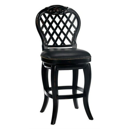 Hillsdale Braxton Wood Bar Stool in Black-30 Inch