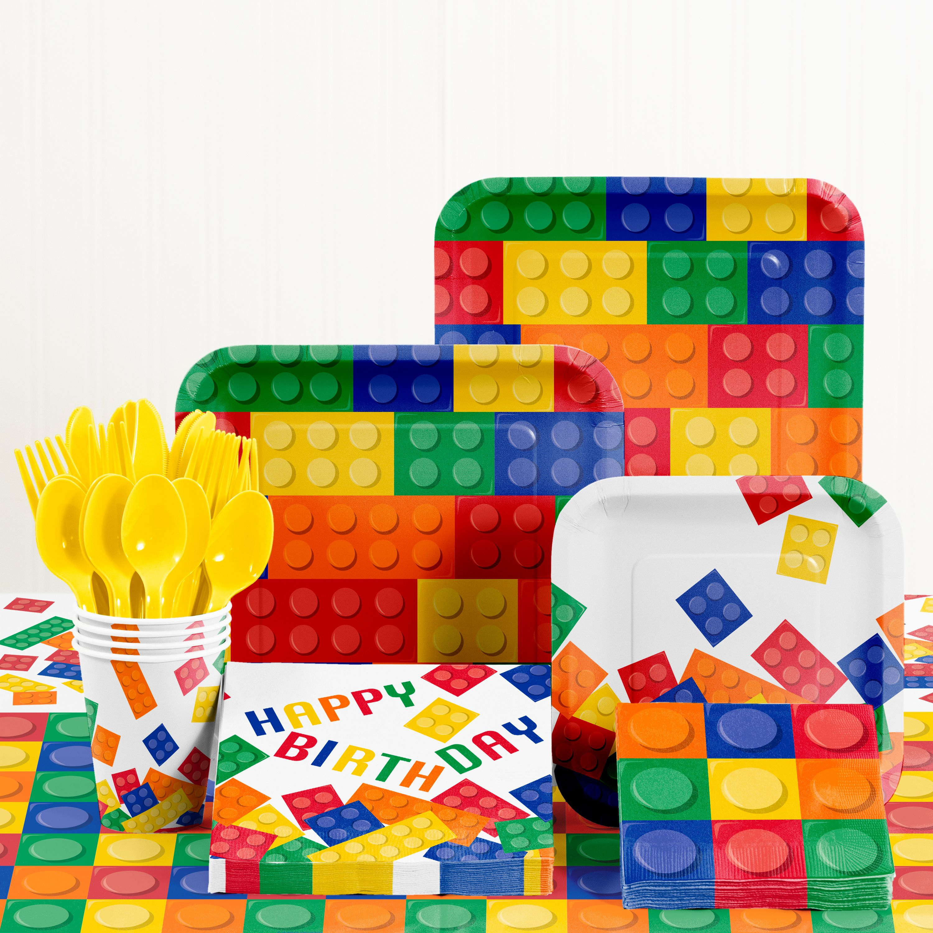 Building Blocks Birthday Party Supplies Kit