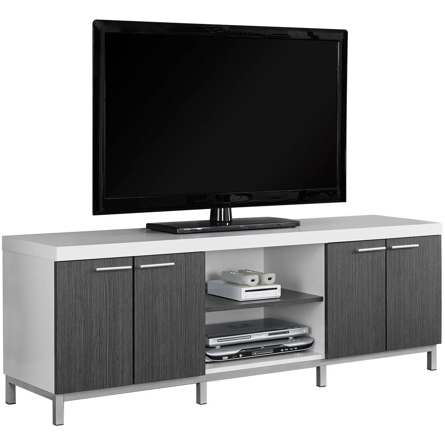 MONARCH   TV STAND   WHITE / GREY   FOR TVu0027S UP TO ...
