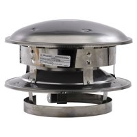 """Selkirk 6T-CT 6"""" Stainless Steel Round Top"""