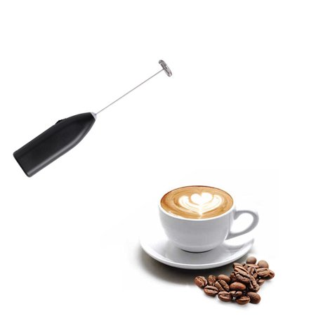GLiving Automatic Design Mini Hand Held Electric Mixer Handheld Milk Frother Handheld Stirrer Electric Foam Maker Milk Frother Wand for Cappuccino Latte Espresso Hot