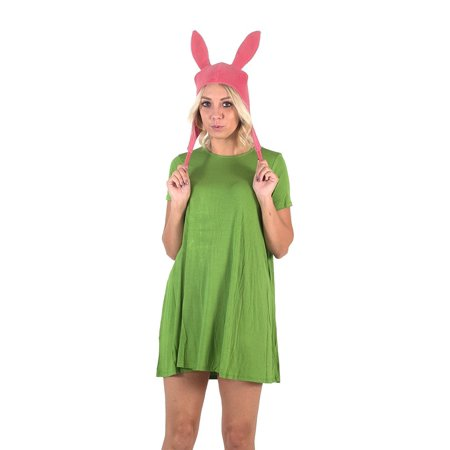 Bob's Burgers Louise Hat with Green Dress Costume Set (X-Large) - Louise Belcher Halloween