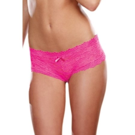 Dreamgirl Hot Pink Floral Lace Panty 1375 Hot Pink