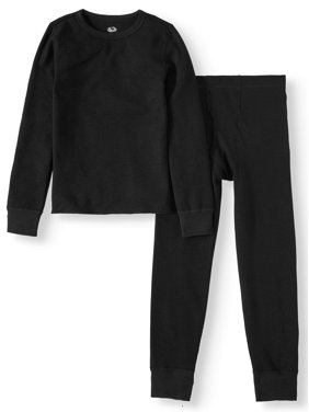 Fruit of the Loom Thermal Underwear Boys Super Soft Mid Weight Waffle Baselayer Thermal Set, (Little Boys & Big Boys)