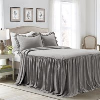 Lush Decor Ruffle Skirt 3-Piece Bedspread Set