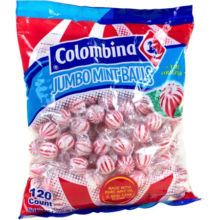 Colombina Jumbo Mint Balls Candy, 120 count, 3 lbs