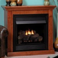 "Vent-Free 26"" White Millivolt Fireplace - Natural Gas"