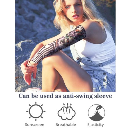 Tattoo Sleeves For Men Women 10 Pcs Arm Sleeves Fake Piercings Temporary Tattoos Cover Up Sleeves The Girl With The Dragon Tattoo Walmart Canada