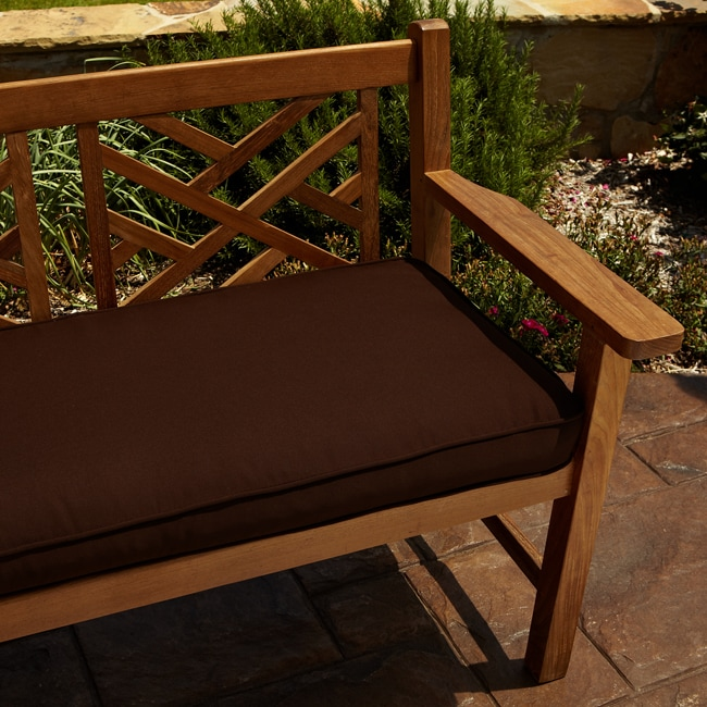 Mozaic Company Clara Brown 60-inch Indoor/ Outdoor Sunbrella Bench Cushion