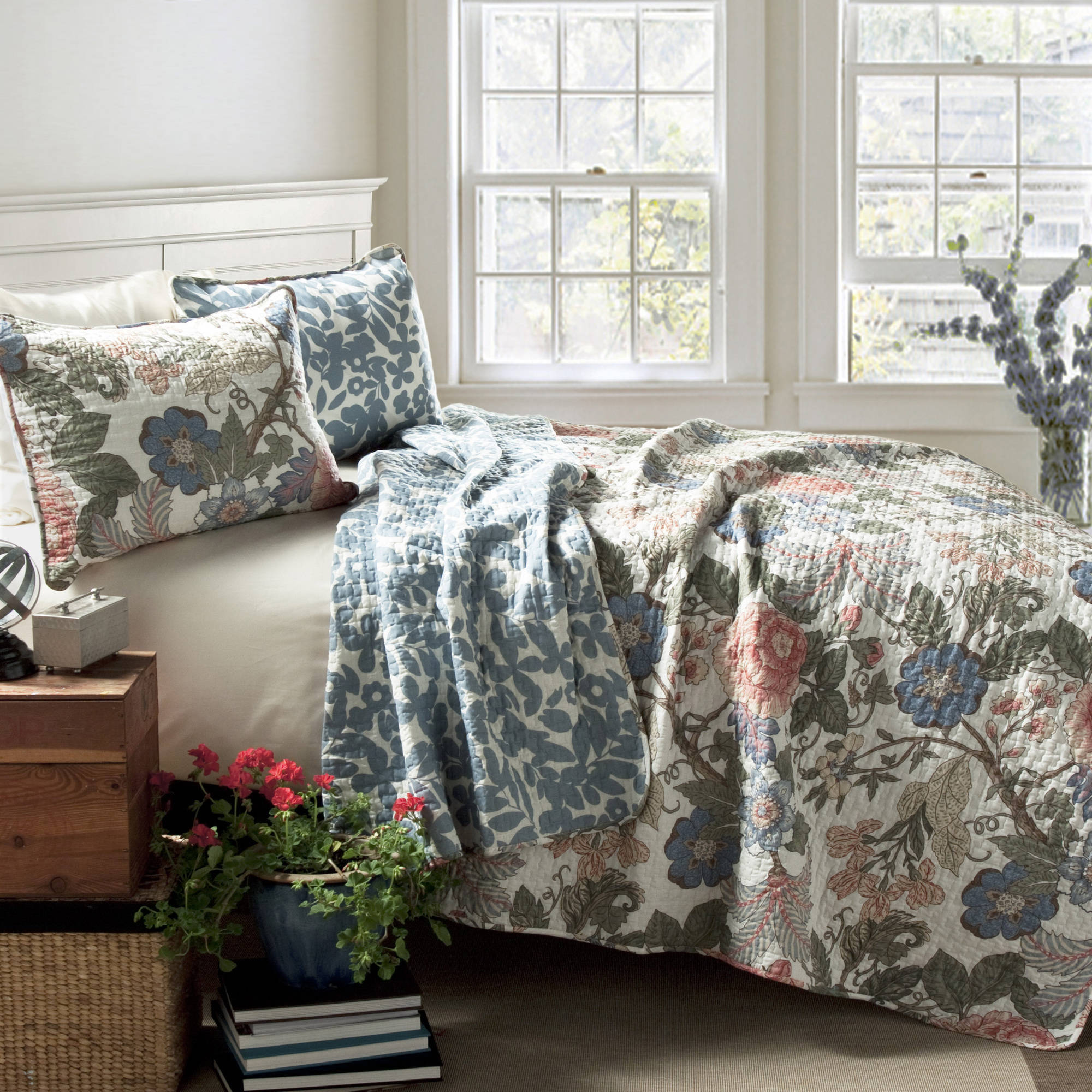 blue king bedding sets comfort sydney 3piece quilt set greenblue walmartcom