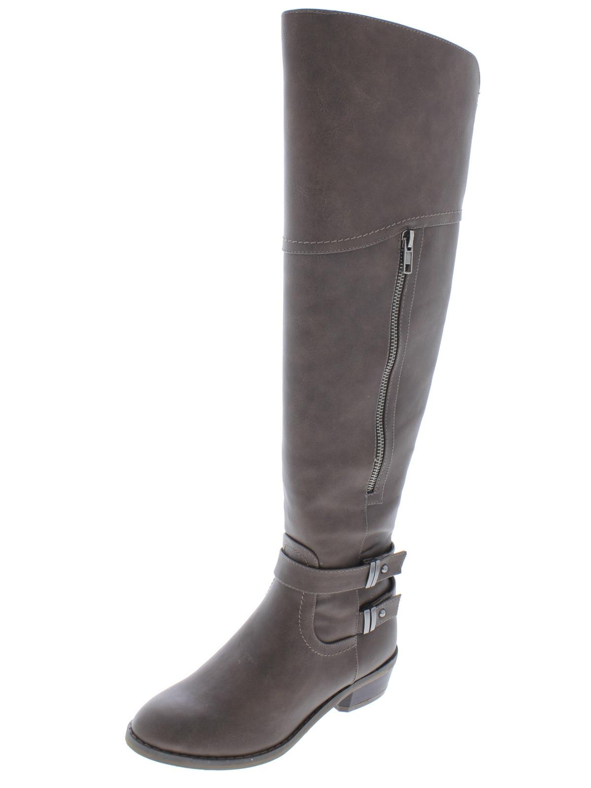 Indigo Rd. Womens Custom 2 Faux Leather Riding Over-The-Knee Boots