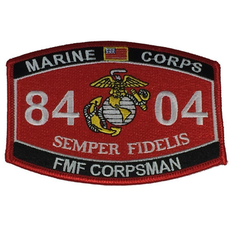 MARINE CORPS 8404 FMF CORPSMAN SEMPER FIDELIS MOS PATCH DOC NAVY USN CADUCEUS ()