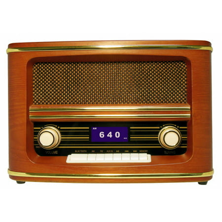 wolverine retro style fm am radio and bluetooth speaker. Black Bedroom Furniture Sets. Home Design Ideas