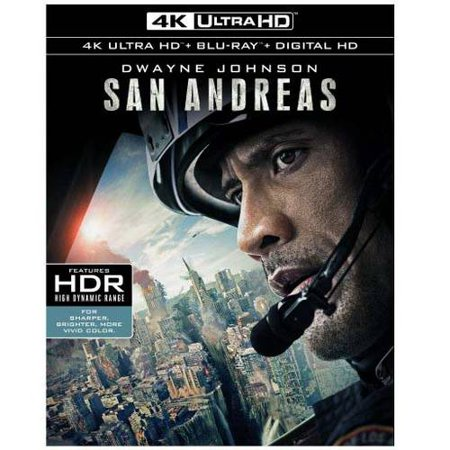 San Andreas  4K Ultrahd   Blu Ray   Digital Hd  With Ultraviolet