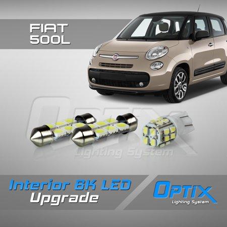Fiat Interior Cover - Optix 3pc 2014+ Fiat 500L LED Interior Light Package Replacement Set - White
