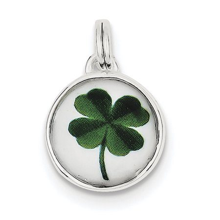 Sterling Silver Four Leaf Clover Charm QC4724 (22mm x 15mm) - image 2 of 2