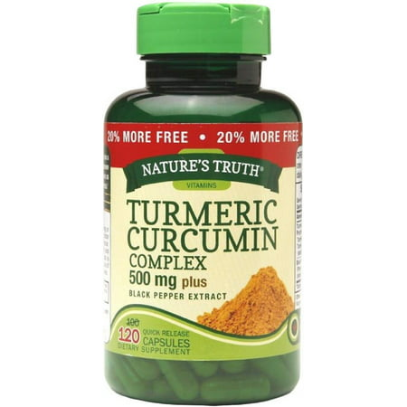 Natures Truth Turmeric Curcumin Complex 500 mg Plus Black Pepper Extract Quick Release Capsules 120 ea (Pack of (Pack Quick Release)