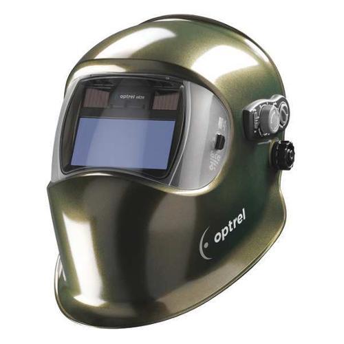 OPTREL K6701 Welding Helmet, Shade 4, 9 to 13, Green