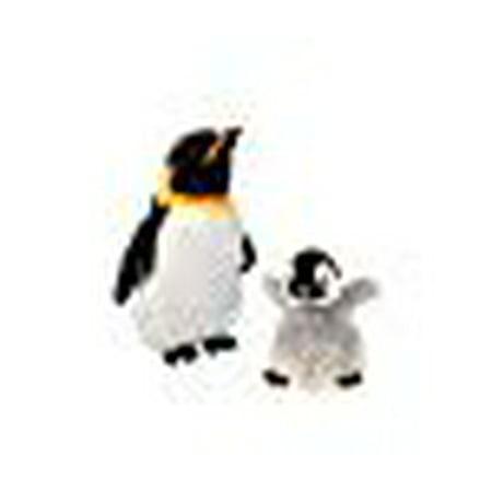 Wild Republic Emperor Penguin Cuddle Pack - Includes 1 Adult 12 Plush Mama Bird and 1 Baby 8