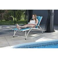 Vivere Dockside Aluminum Sun Lounger (True Turquoise)