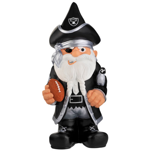 Forever Collectables NFL Thematic Gnome Version 2, Oakland Raiders
