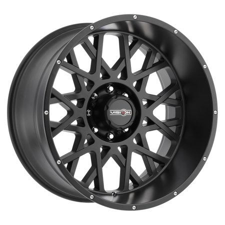 Vision Off-road Wheels, Rocker Style: 412 RWD, Finish: Satin Black w/Chrome Bolts, Wheel Size Inches: 22X12 PCD: 5-139.7 Load Rating lbs. (Best Tire Size For 22 Inch Rims)