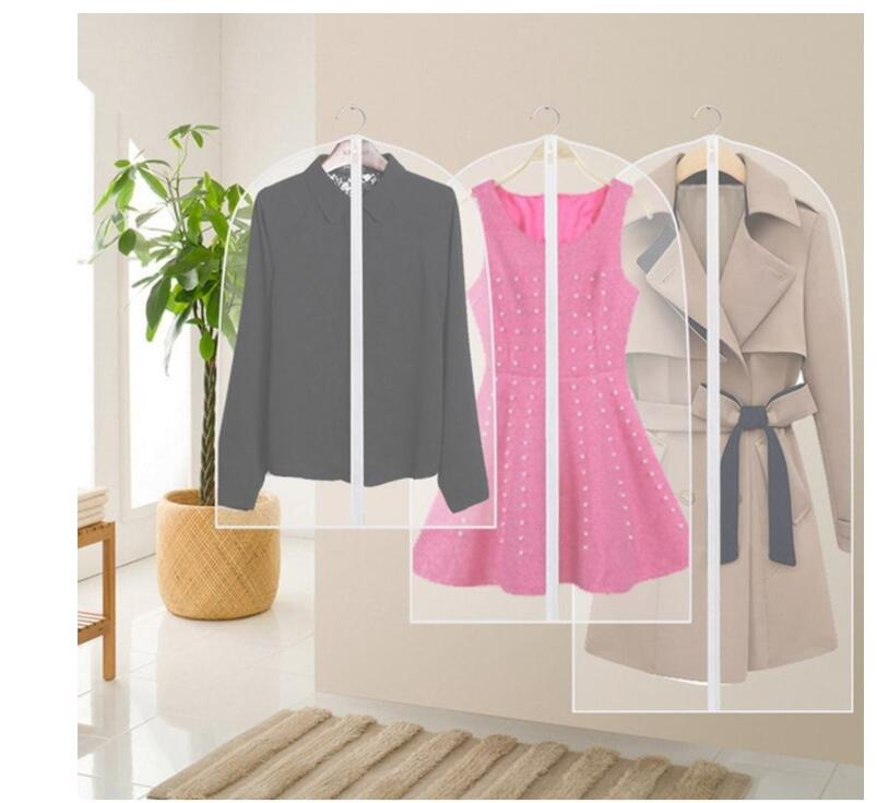 Dress Garment Coat Protector Hanger Clothes Dustproof Cover Storage Bags